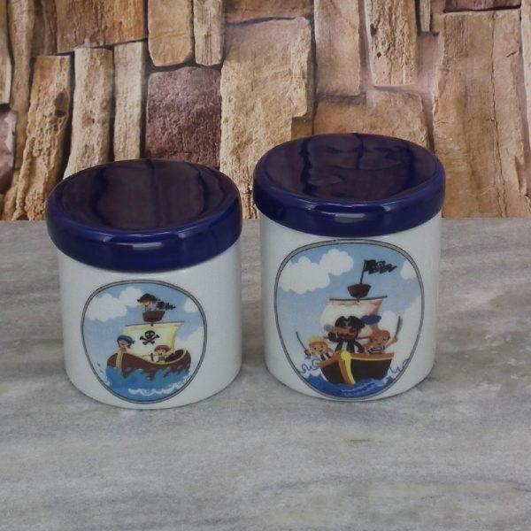 Pote Porcel. Peqno Piratinhas C_Tampa Azul Escuro