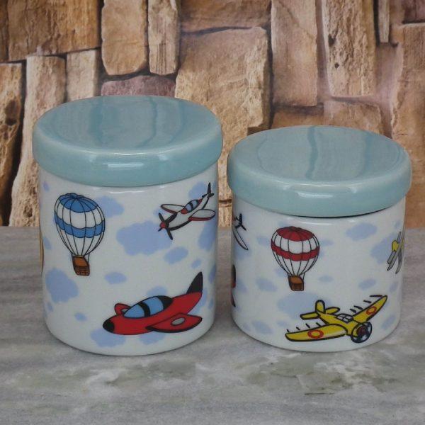 Pote Porcel. Peqno Balões e Aviões T_Azul Velho