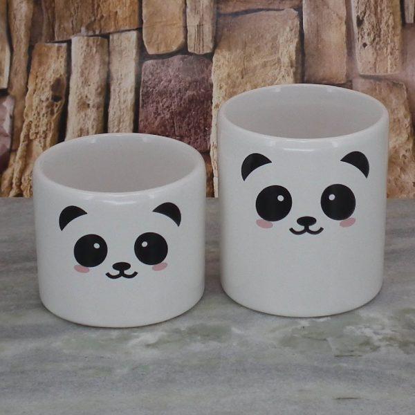 Fundo Pote Roma Peqno Rostinho Panda