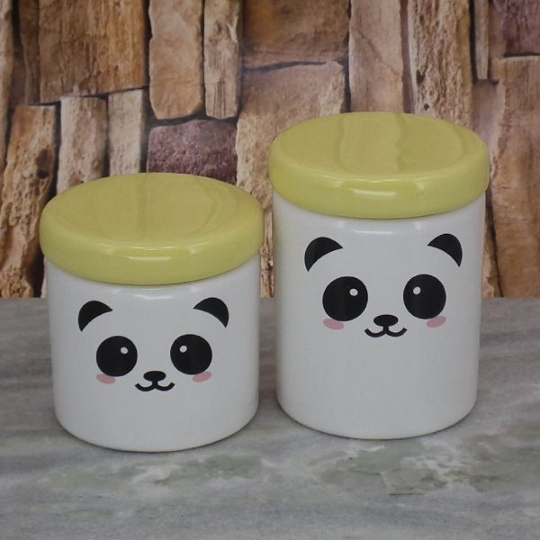 Pote Roma Medio Rostinho Panda T_Amarelo Candy