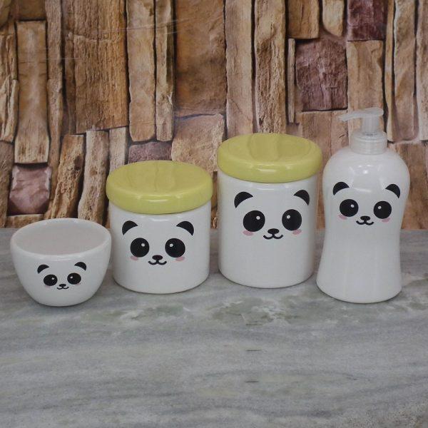 Pote Roma Peqno Rostinho Panda T_ Amarelo Candy
