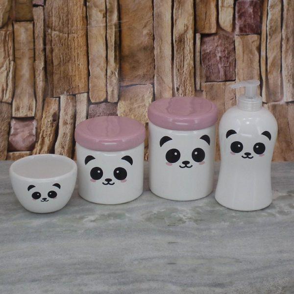 Pote Roma Peqno Rostinho Panda T_Rosa Bebe