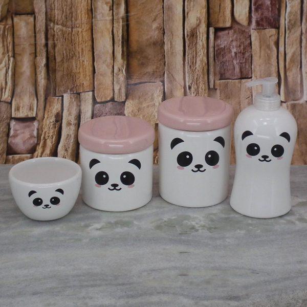 Pote Roma Peqno Rostinho Panda T_Rosa Velho