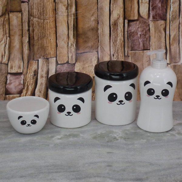 Pote Roma Peqno Rostinho Panda T_Preta