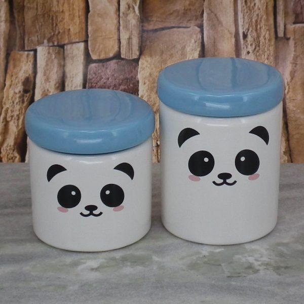 Pote Roma Medio Rostinho Panda T_Azul Bebe
