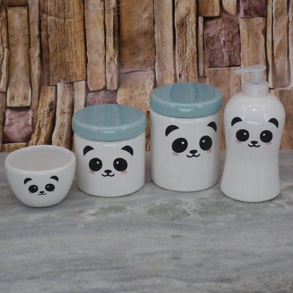 Pote Roma Peqno Rostinho Panda T_Azul Velho